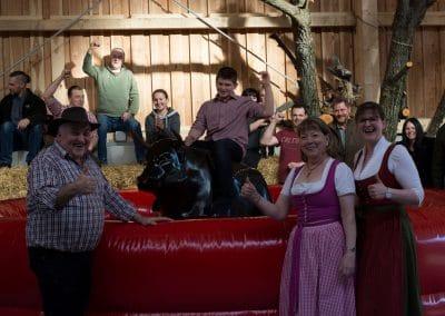 Bullenrodeo beim Ramswirt auf der Ranch mit Familie Pichler